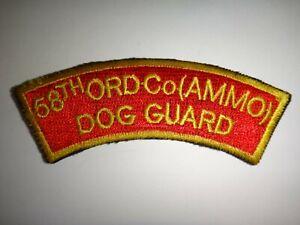 États-Unis 58th Ordnance Munitions Compagnie Chien Protection - Corée Guerre Arc