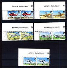 Alderney 18/22 ** Eckrandpaar 50 Jahre Flughafen von Alderney