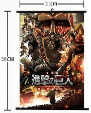 Hot Japan Anime Attack on Titan Home Decor Wall Scroll Poster 8