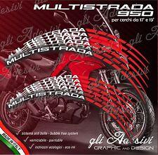 Set Adesivi Cerchi Moto Ruote DUCATI MULTISTRADA 950 bicolore