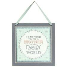 Madre Regalo-al mundo Madre Colgante Placa por este de la India 810 EoI
