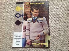 STITCHCRAFT Ladies Vintage Knitting Magazine September  1957