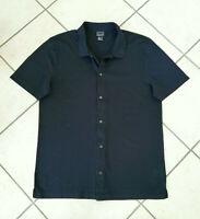 """H&M  Hemd  Freizeithemd  Polokragen  Kurzarm """"Premium Cotton""""  Gr. L  blau  NEU"""