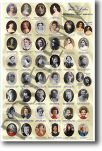 The First Ladies of United States of America - NEW US HISTORY Classroom POSTER