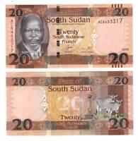 UNC SOUTH SUDAN 20 Pounds (2015) P-13a