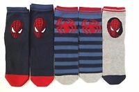 Marvel Spider-Man Spider-Sense Boy's Socks 5 Pack Set Size 40-42 NWT