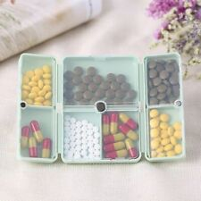 Portable Pill Box Travel Medicine Storage Compartment Case Tablet Dispenser Kit