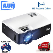AUN Projector Beamer Home Theater, 1800 Lumens LED HDMI Full HD 1080P Video LED