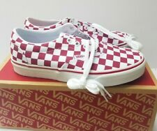 Vans Doheny Women's Skate sneakers Shoes sz 7.5 ceris/Trwht  checkboard