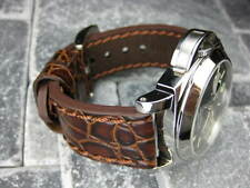 NEW BIG GATOR 20mm Brown LEATHER STRAP Watch Band Superocean 20 mm