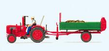 Preiser H0 17940 Ackerschlepper Fahr mit Einachs-Dungstreuer , Fertigmodell