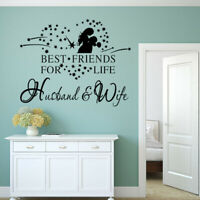 Wall Decal Stickers Husband Wife Best Friends For Life Wedding Bedroom