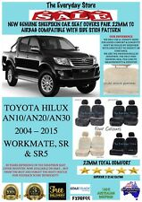 Genuine Sheepskin Car Seat Covers For Toyota Hilux 04-15 Pair 22MM Airbag Safe