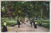 USA postcard - Scene on the Common, Boston, Mass - P/U (A103)