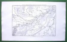 1859 ANTIQUE MAP - Germany Hochstett & Environs Danube River