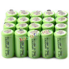 20pcs 2/3AA 1.2V 1800mAh Ni-MH rechargeable battery Batteries Cell For Phone