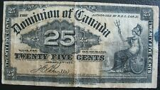 1900 Dominion of Canada 25 Cents Note