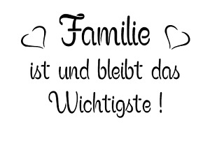 """Schablone """" Familie ist und bleibt....  """" auf A4"""