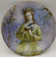 """Guy Cambier-D'arceau Limoges Collector Porcelain """"SPRING GIRL"""" Plate #AC573 1980"""