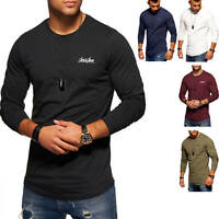 Jack & Jones Herren Oversize Langarmshirt Longshirt O-Neck Herrenshirt Shirt