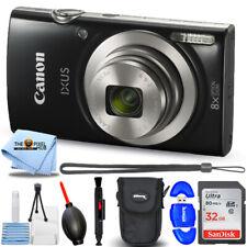 Canon IXUS 185 / ELPH 180 Digital Camera (Black) + 32GB + Pocket Case Bundle