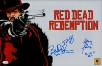 ROB WIETHOFF +2 RED DEAD REDEMPTION hand signed 11x17 JSA COA Autographs