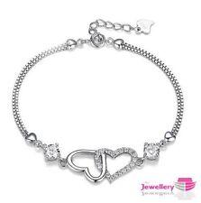 Cubic Zirconia Chain/Link Unbranded Costume Bracelets