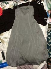 Vintage Georgiou Studio Elegant Formal Gray Evening gown dress - 4
