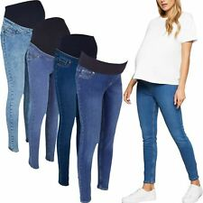 New Ladies Womens Ex-Store Maternity Over Bump Preganancy Jeggings Jeans 8-20