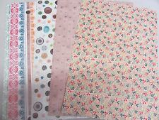 PAPERMANIA~A4 PATTERNED PAPER SHEETS x4~160gsm~CRAFT~CARDS~ART~SCRAPBOOKING~