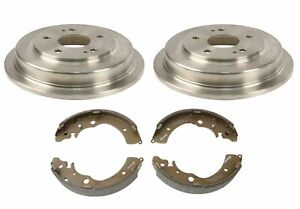 Brembo Rear Drums 5 Lugs and Shoes Brake Kit for Honda Civic GX Hybrid-L Fit EV