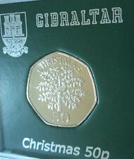 2010 Gibraltar Christmas Partridge in a Pear Tree 50p BU Coin Collector Gift Set
