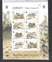 Jersey 2004 WWF BIRD/Reptile/Insect sht ref:n15228
