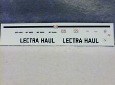 >Decal - Lectra Haul MT4400 Unit Rig Water Slide Diecast Model 1/48 - 1/50 D007