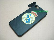 5G 5S Black Realmadrid Skin Real Leather case back side cover for iphone 5 5G 5S