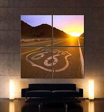 BIG ROUTE 66 Leinwand Bild Bilder Amerika Highway Abstrakt Legende Wandbild XXL