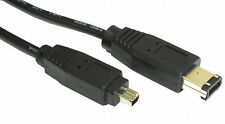Firewire CABLE 2m 2 metre 6 to 4 pin iLink DV IEEE 1394 Camera to Pc Laptop Lead