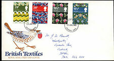 GB FDC 1982 British Textiles, Stevenage FDI  #C39513