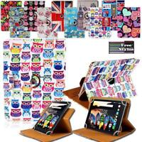 "For Various 7"" 8"" 10"" Lenovo Tab Folio Rotating Stand Wallet Leather Cover Case"
