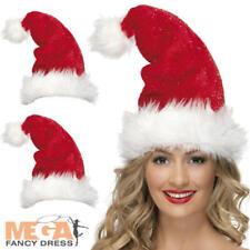 Santa Hats Adults Fancy Dress Festive Christmas Xmas Costume Accessory Hat Sets