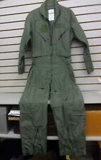 U.S. Military Fire Resistant Sage Flyers Summer Coveralls Flight Suit Aramid 40R