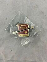 Vintage - Magic Master - Magicians - Lapel Pin - Las Vegas - NEW