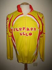 Ferrari Velo yellow Italy LS jersey shirt cycling maglia ciclismo size 6, XL