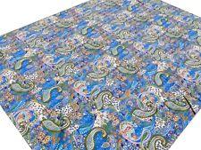 Dessus de lit indien Couverture Brodé main Kantha Inde Coton Couvre-lit Bleu