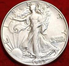Uncirculated 1942-P  WALKING LIBERTY SILVER HALF DOLLAR, Philadelphia Mint  COIN