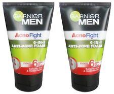 2x 100ml GARNIER MEN ACNO FIGHT Foam Cleanser Cleansing Face Wash Anti Acne Herb