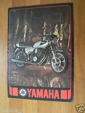 HAP-173 YAMAHA BROCHURE 1977 DOHC 750 & MODELS FRENCH 6 PAGES,FS1,DX,RD50,XT500,