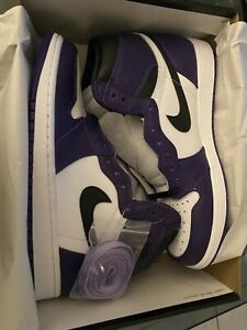 Size 9 - Jordan 1 Retro High OG Court Purple 2.0 2020