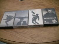 Bryan Adams 4 Cassette Lot: Reckless, Waking up the Neighbors, Into the Fire