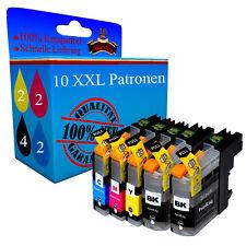 10 Druckerpatronen XXL für Brother LC223 LC225 XL DCP-J4120 DW MFC-J4420 DW PK+